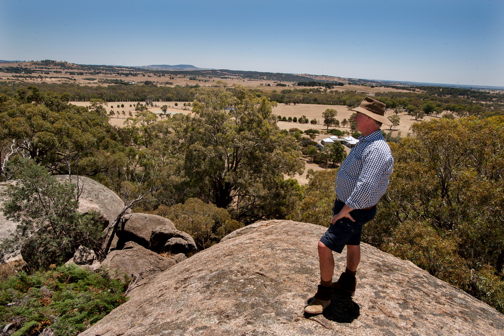 RObert Pearse from Langley Landcare looks out form the top of Black Hill Reserve.An exciting new arts project is planned for the area.