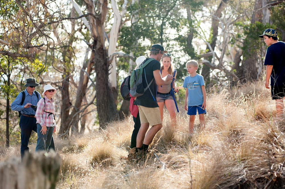 Looking for scorpians at the Creepy Crawly Walk and Talk at Bald Hill Reserve.©Scheltema