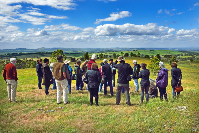 A visit to the Aboriginal Quarry Site at Mt William was part of the Landcare Forum celebrating 30 years of Landcare held at Newhman recently.Pic by Kylie McKay